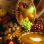 Basket of Fruit and Pumpkin Pie
